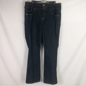 TORRID DENIM JEANS BOOTCUT DOUBLE BUTTON CLOSURE